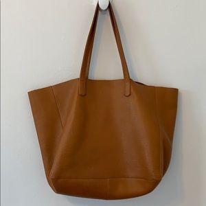 Baggu oversized leather tote